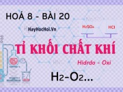 Tỉ khối là gì, công thức và cách tính tỉ khối của chất khí, hỗn hợp khí - hoá 8 bài 20